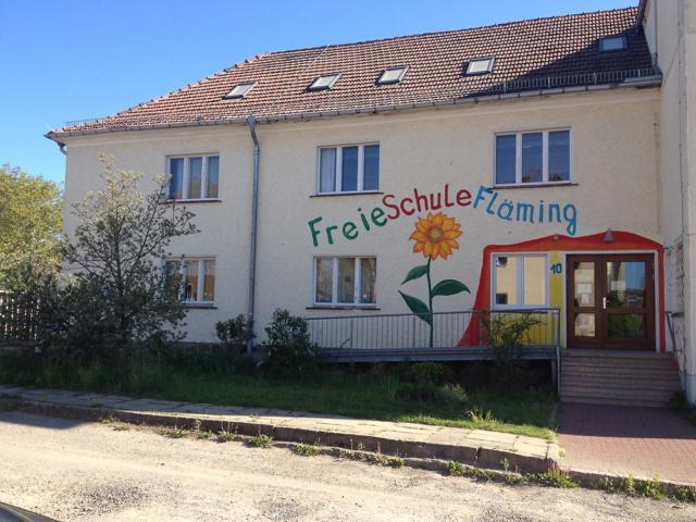 Eingang der Freien Schule Fläming